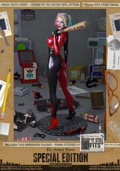 Harley Quinn 'It Still Fits' SE Comic Art Print
