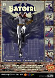Batgirl 'Pulp Friction in the Sky' Art Print by PaulSuttonArt