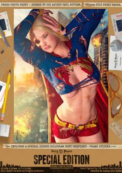 Supergirl Ripped 'N' Torn Comic Art Print
