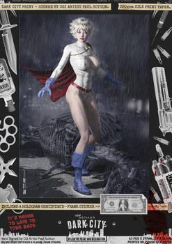 Power Girl 'Dark City' Var. Signed Comic Print