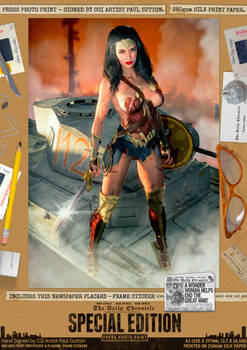 Wonder Woman Gal Gadot 'Justice Served' SE Print