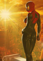The Spectacular SPIDER-GIRL 'Sunset City' Series 3 by PaulSuttonArt