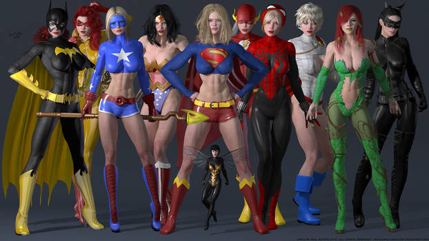 The Superheroine Studio Collection by PaulSuttonArt