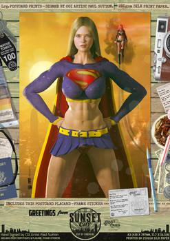 Supergirl 'Sunset City' Comic Print