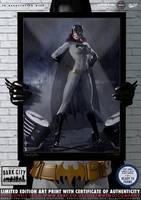 Batgirl (Black and Gold) 'Dark City' Series by PaulSuttonArt