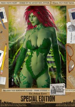 Poison Ivy 'Toxic Paradise' SE Comic Print