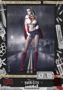Linda Danvers 'Dark City' Var. Signed Comic Print