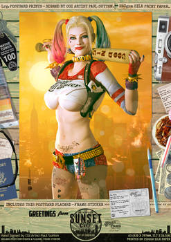 Harley Quinn Suicide Squad 'Sunset City' Print