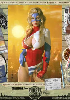 Ms Victory 'Sunset City' Comic Print