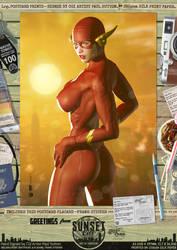 The Flash 'Sunset City' Comic Print