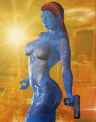 Mystique 'Sunset City' Series by PaulSuttonArt