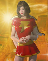 Mary Marvel 'Sunset City' Series by PaulSuttonArt
