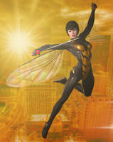 The Wasp 'Sunset City' Series by PaulSuttonArt