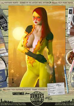 Firestar 'Sunset City' Comic Print