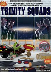 The Trinity Superheroine Squad by PaulSuttonArt