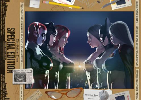 The Trinity Superheroine Squads Comic Print