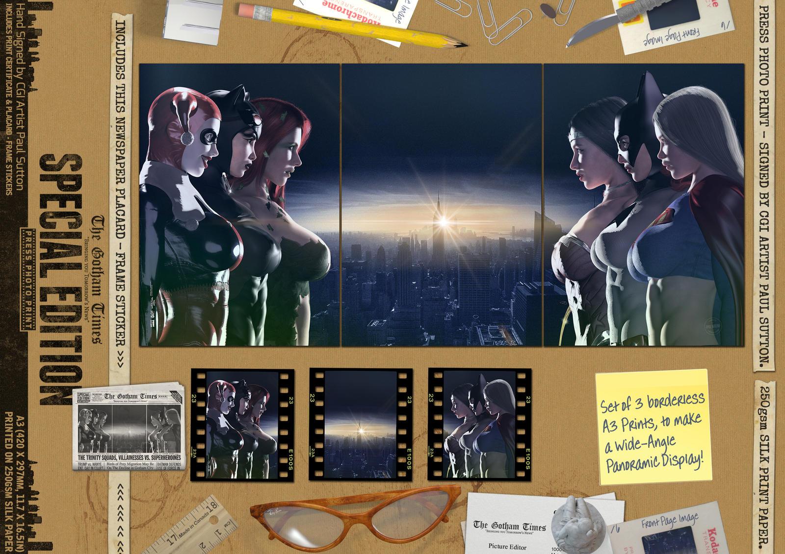 The Trinity Squads, Villainesses vs. Superheroines
