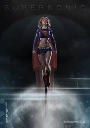 Supersonic Supergirl by PaulSuttonArt
