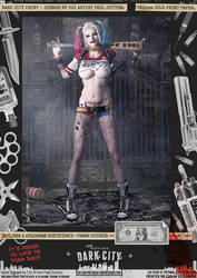 Harley Quinn Suicide Squad 'Dark City' Var. Print