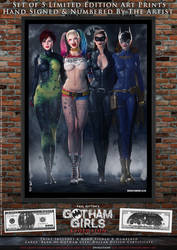 Gotham Girls Comic Series, Evolution Cover Art by PaulSuttonArt