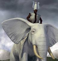 Obatala, King of the White Cloth by Shango-ThunderStones