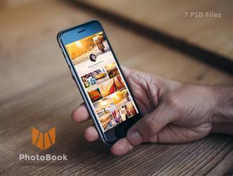 PhotoBook - Photo Sharing Mobile App Design by kemoboydesign