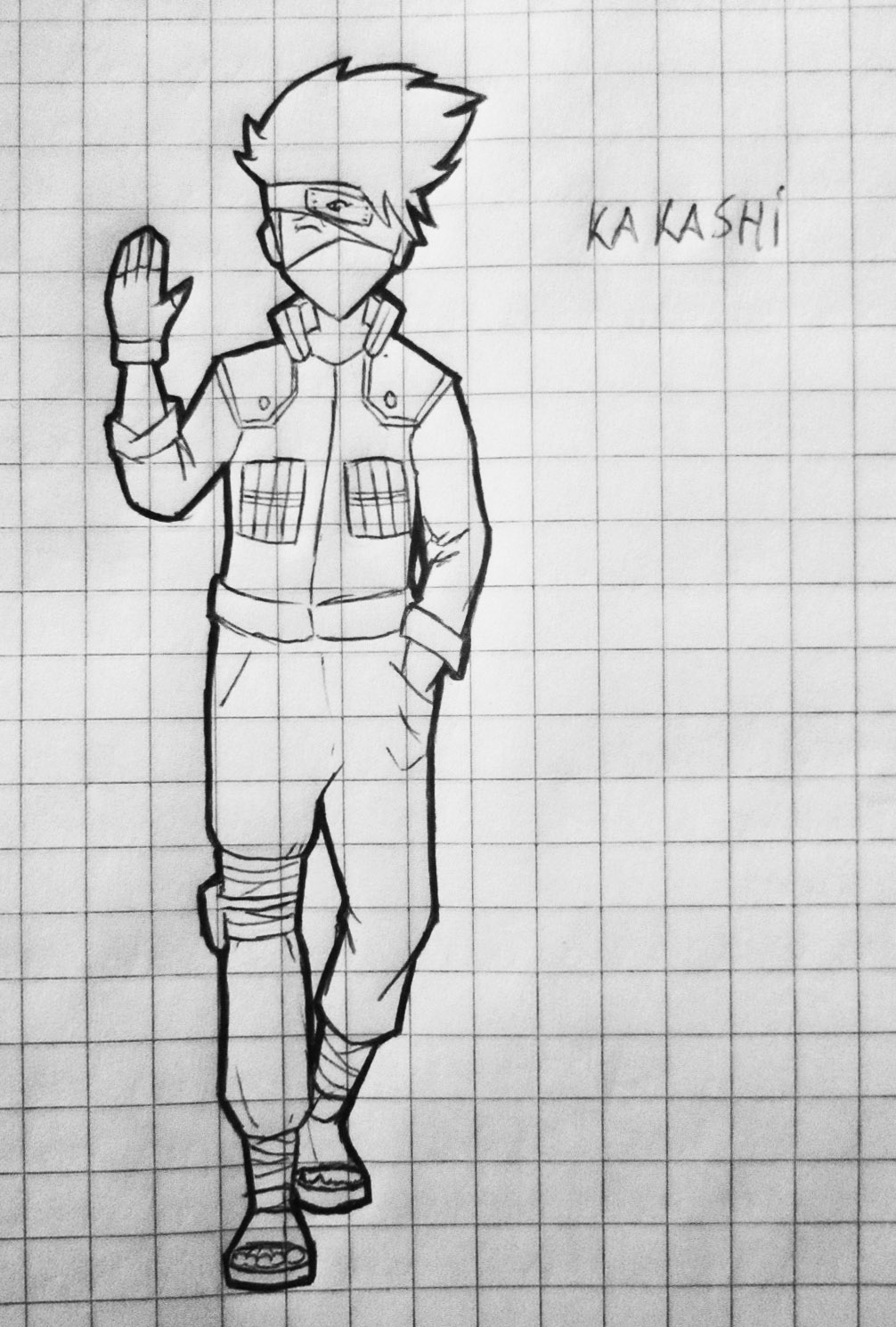 Kakashi dibujo random en clases by ConsuJay on DeviantArt