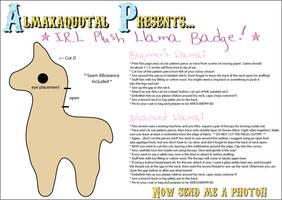 IRL Plush Llama Badge Pattern