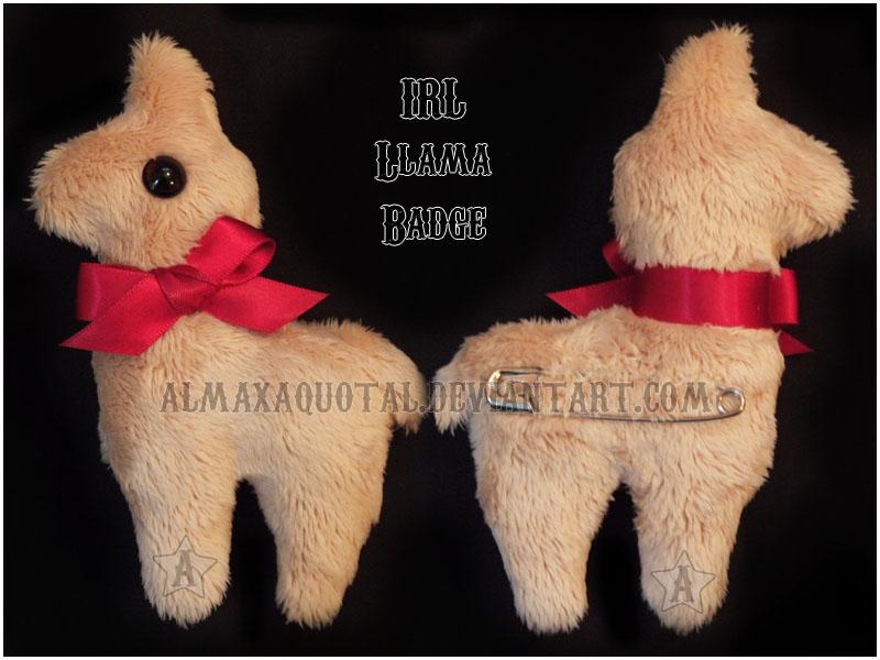 IRL Llama Badge by almaxaquotal