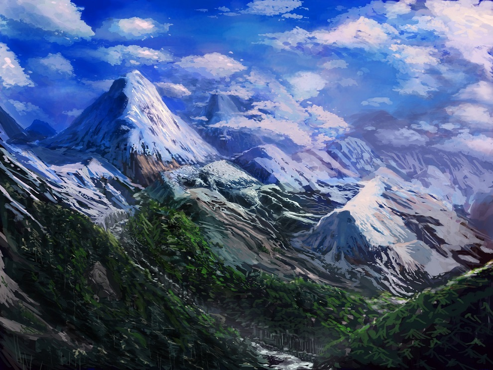Mountain Landscape by Conceptdude