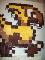 Chocobo Cake by Miko-kips
