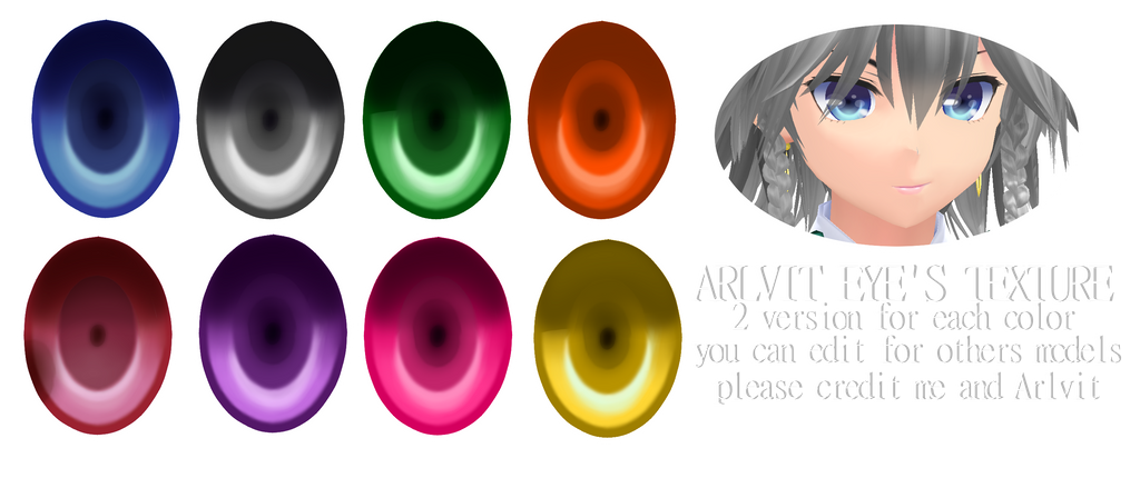 .: Arlvit Eyes Textures :. by TsukiChanP