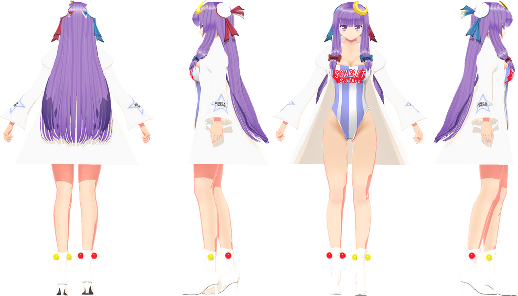 3d mmd patchouli knowledge dances to good luck 10