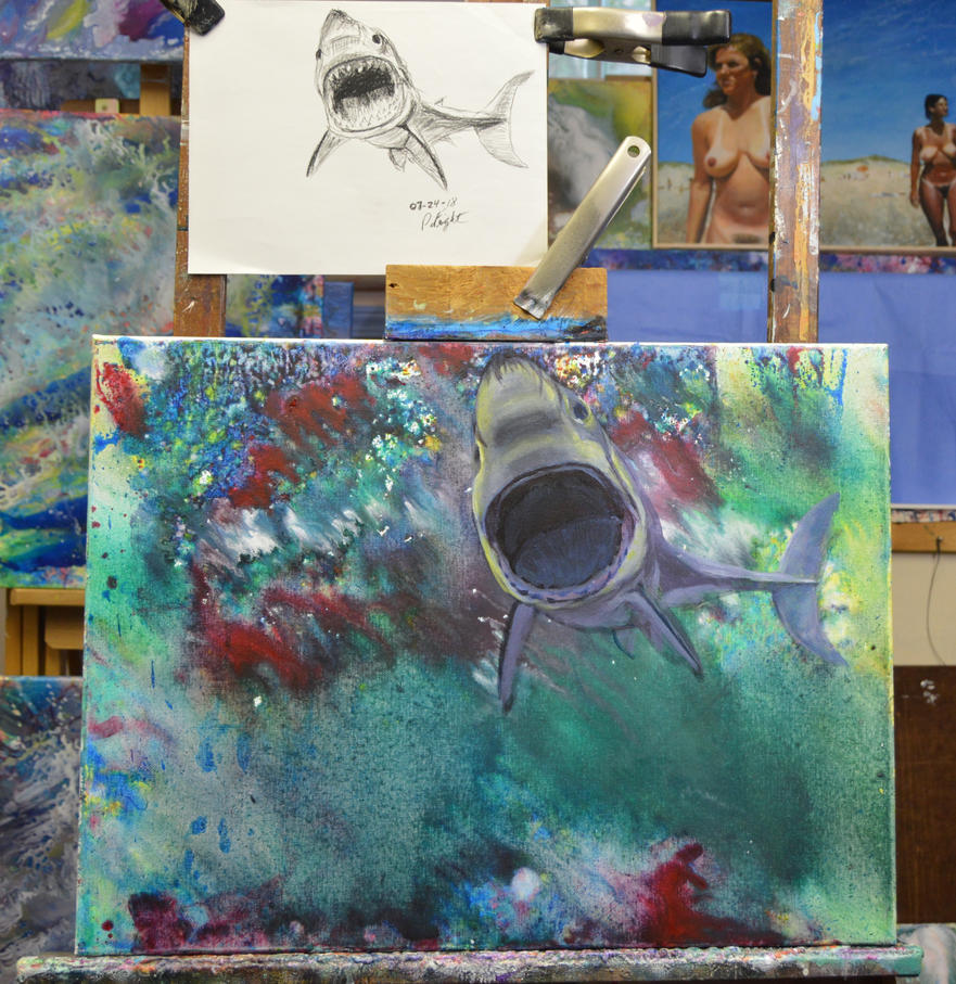 Shark attack-WIP in the studio by pfeight