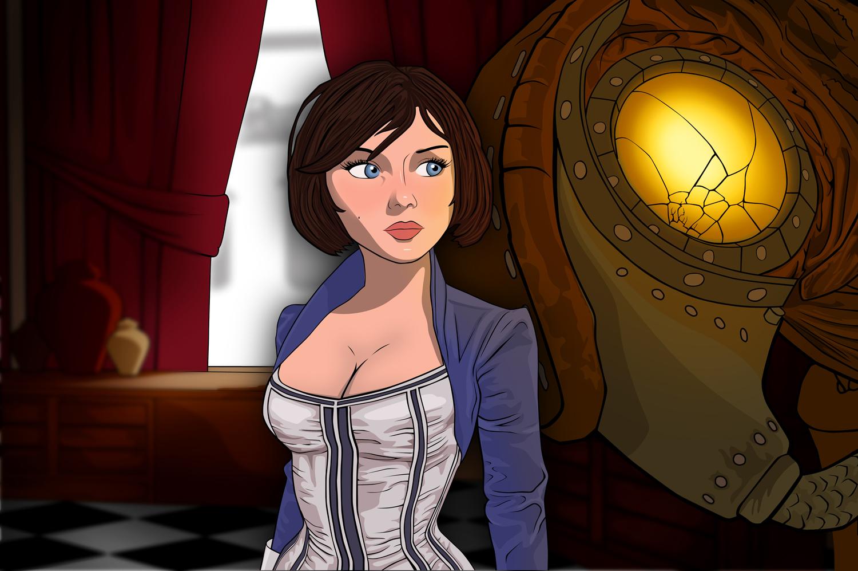 Elizabeth and Songbird by GunGoat