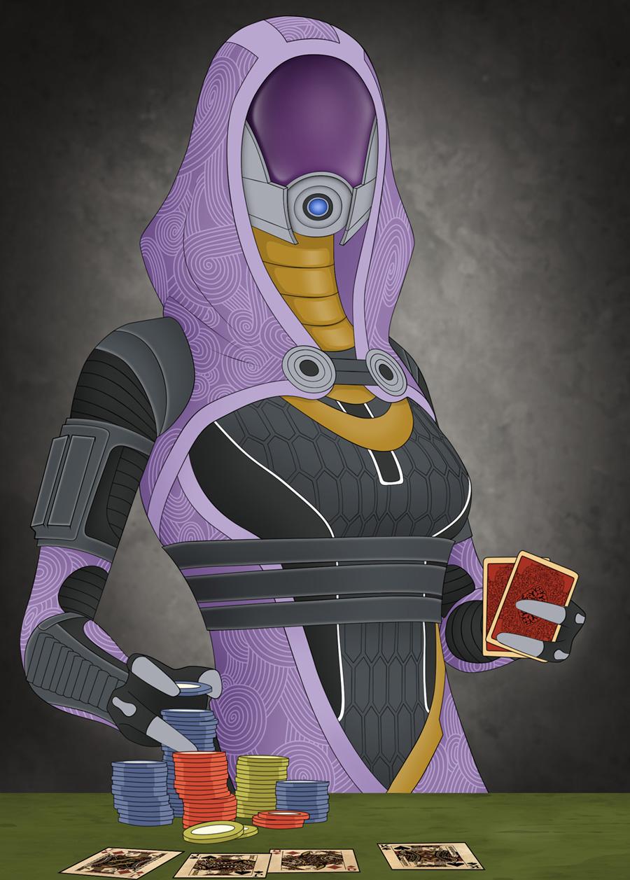 Tali Pokerface by GunGoat
