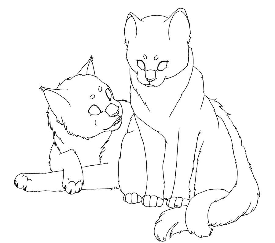 Names Of Line Drawing Artists : The gallery for gt warrior cat lineart kasarawolf