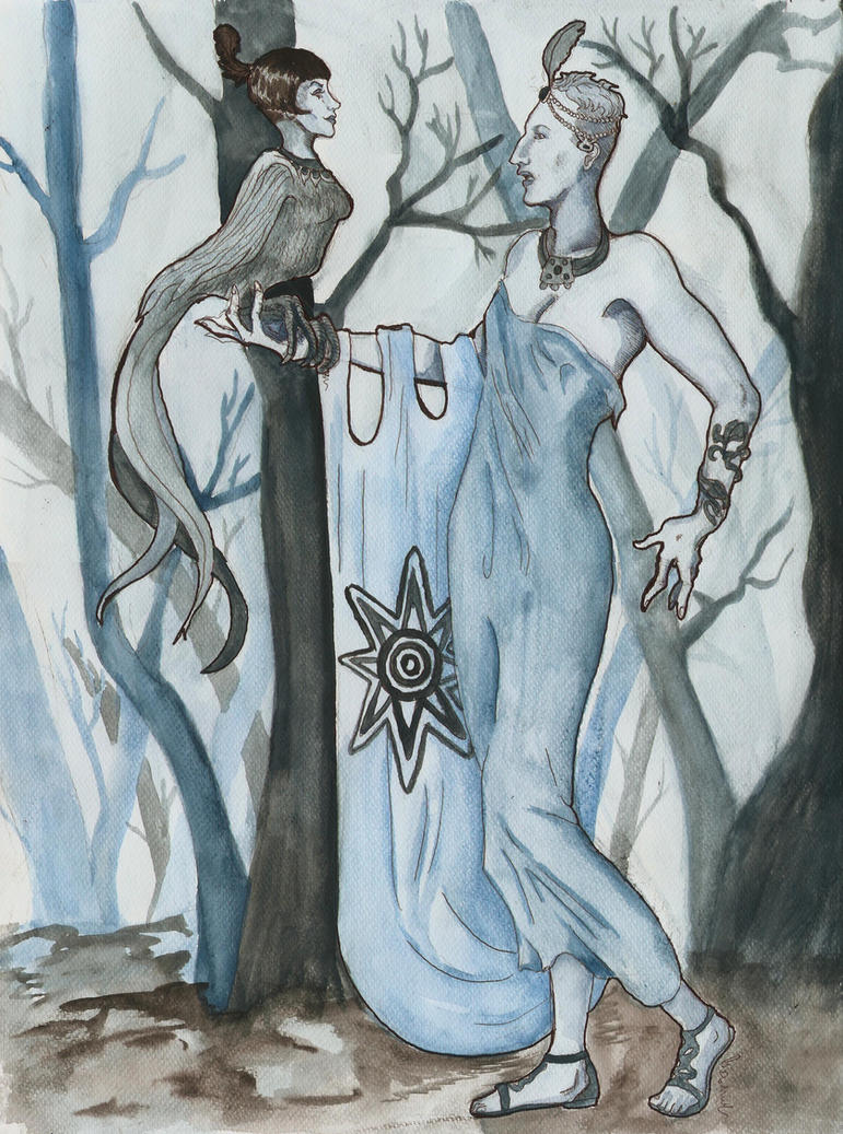 Inanna Heydrich and the tree First Lilith by hello-heydi