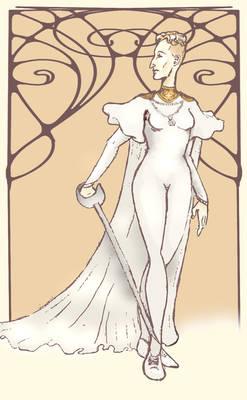 Leierkasten - Lady FencerII Heydrich - Art Nouveau