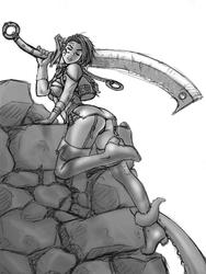 Dark Elf Rogue Sketch