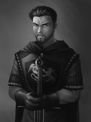 Knightly Self Portrait by RoninDude