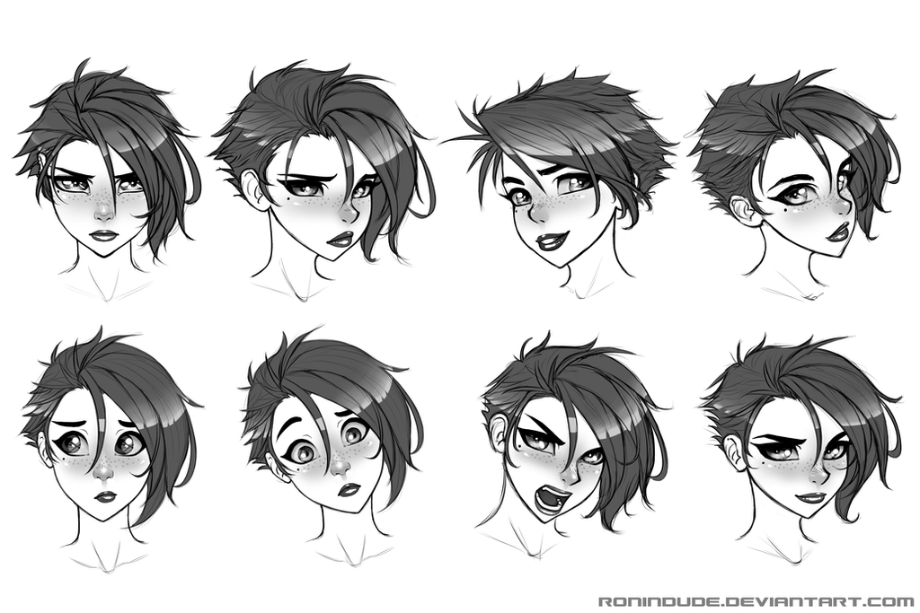 Expression Practice 5-15-14 by RoninDude on DeviantArt