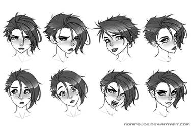 Expression Practice 5-15-14 by RoninDude
