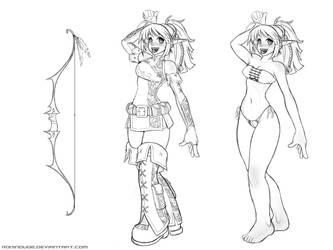 Elven Archer - Sketch by RoninDude