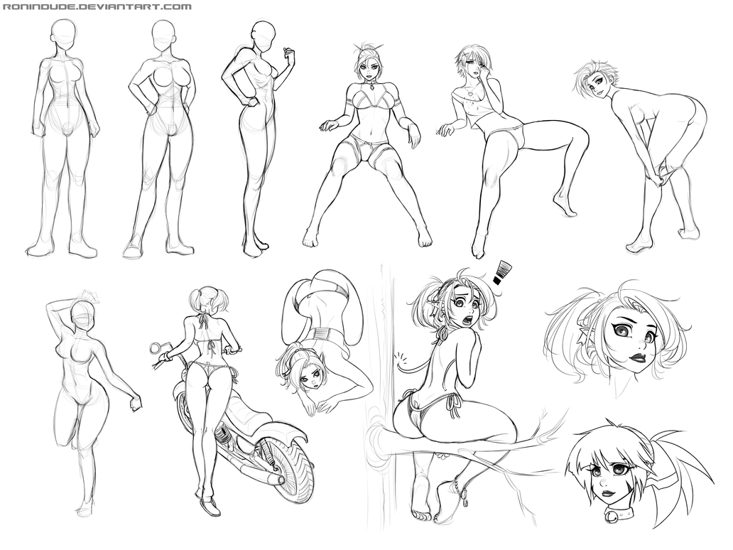Figure Practice June 6, 2014 by RoninDude