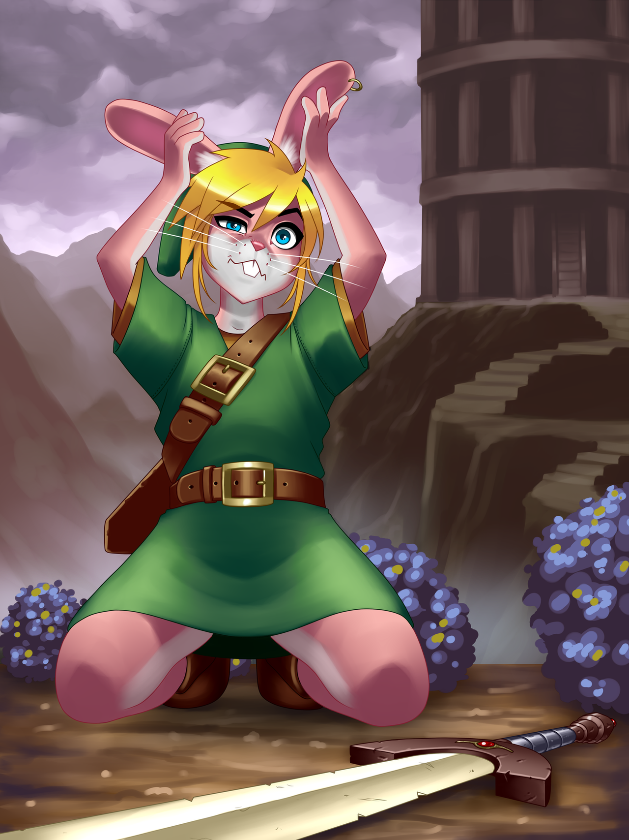 a_link_to_the_past___bunny_link_by_ronindude-d8l04du.png