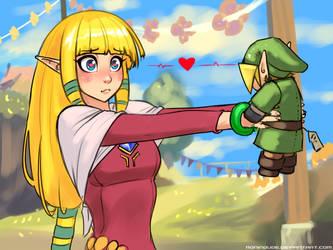 Zelda's favorite toy by RoninDude