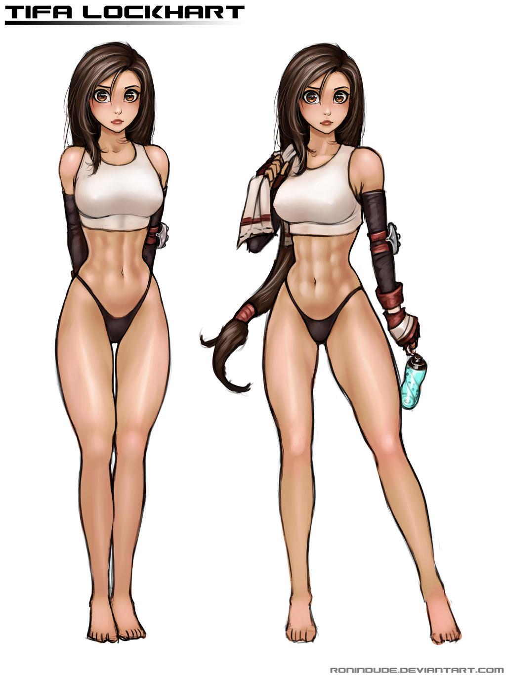 Ff7 Tifa Hentai anatomy practice - tifaronindude on deviantart