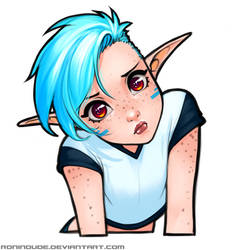 Silly Quickie - Concerned Snow Elf
