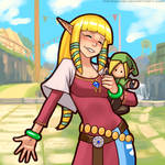 Silly Quickie - Zelda with Plushy Link